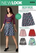 6004 New Look Pattern: Misses' Learn to Sew Skirts